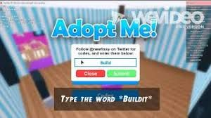Codes For Adopt Me