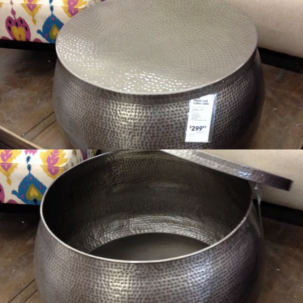 Cool Hammered Metal Coffee Table @Carla Costephens Plus World Market