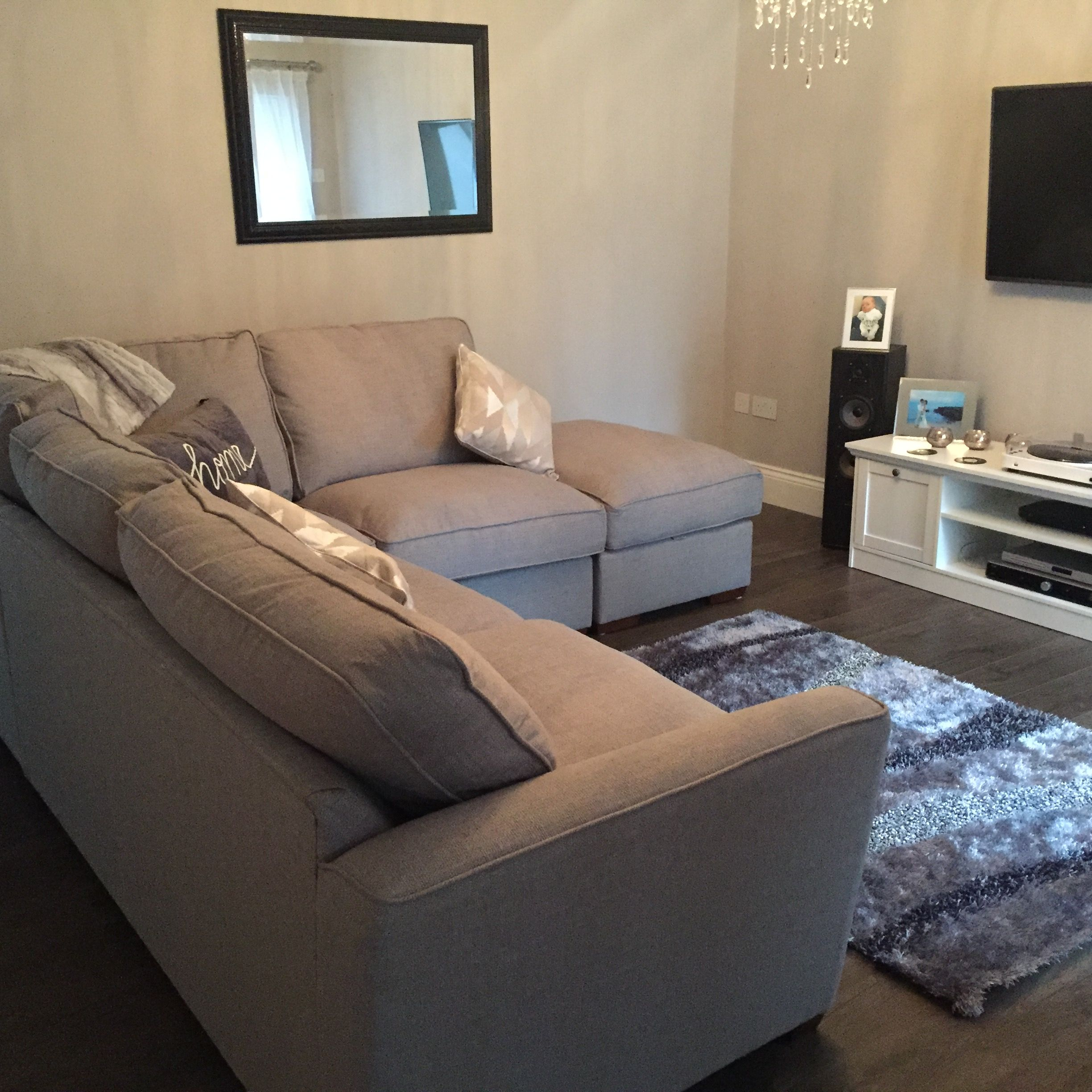 Fable Fabric Corner Sofa From Furniture Village Grey Vibe
