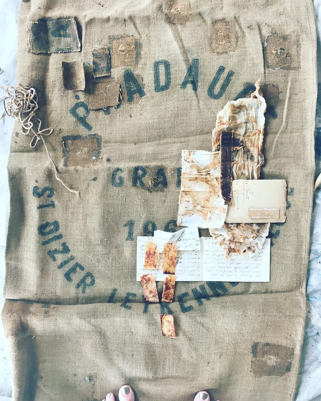 Vintage Grain Sack Art Beginnings Jeanneoliver