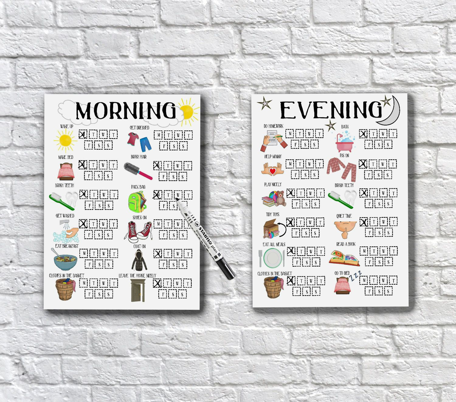 Kids Daily Schedule Morning And Evening Routine