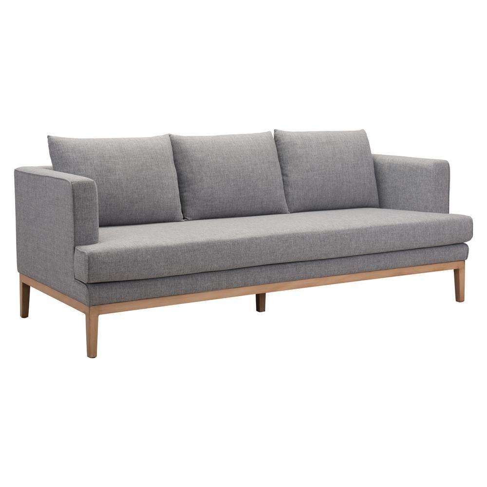 Zuo Eden Gray Aluminum Outdoor Sofa
