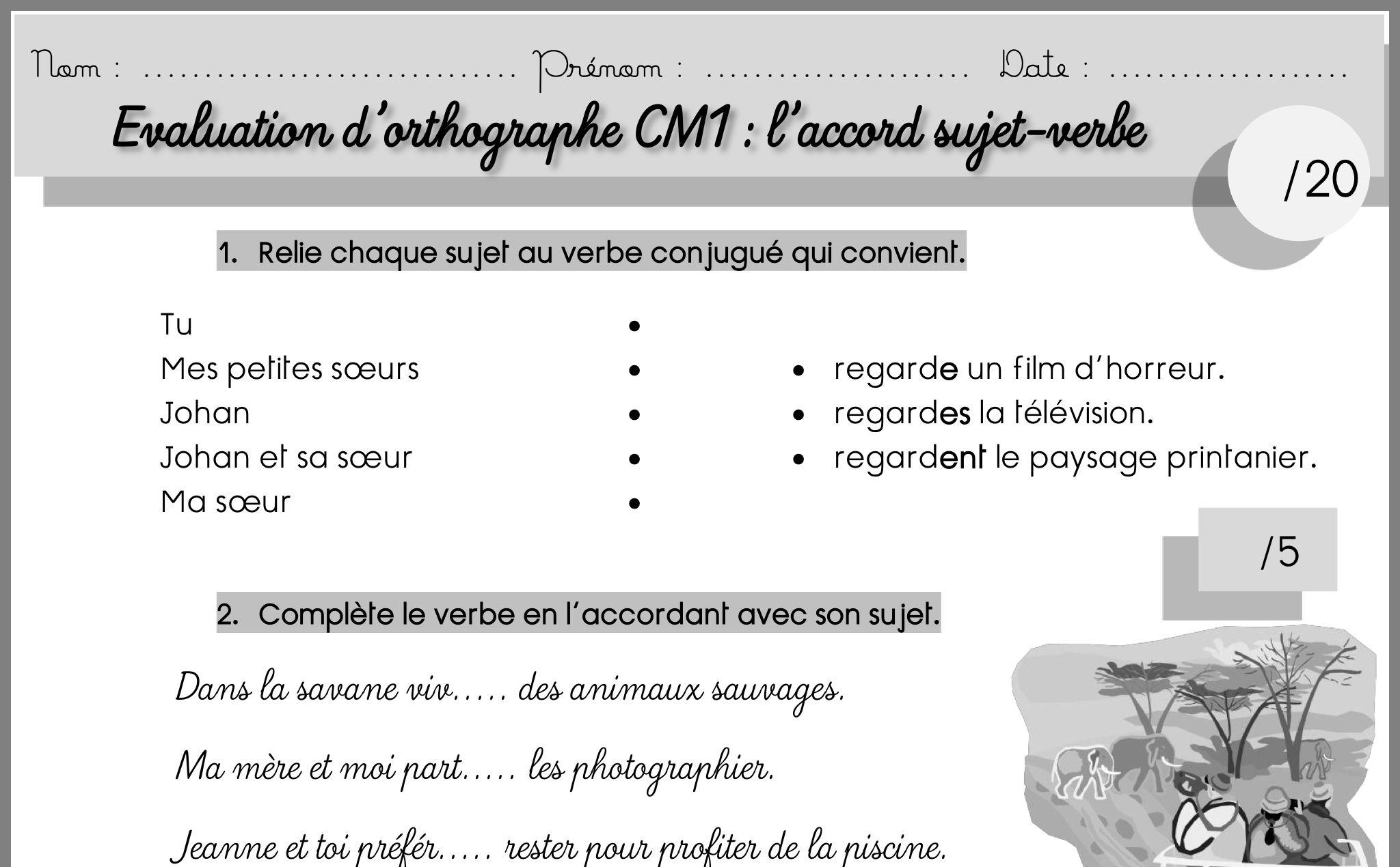 Epingle Par Malika Moguerou Sur Education Orthographe Cm1 Cm1 Verbe Conjugue