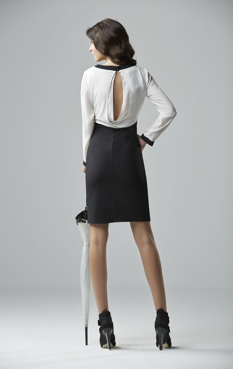 great black and white elegant dress www.chrisper.gr find it online