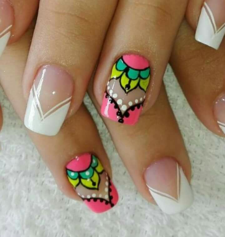 Decoracion De Uñas Uñasdecoradas Nails Uñas Nails Nail Art Y