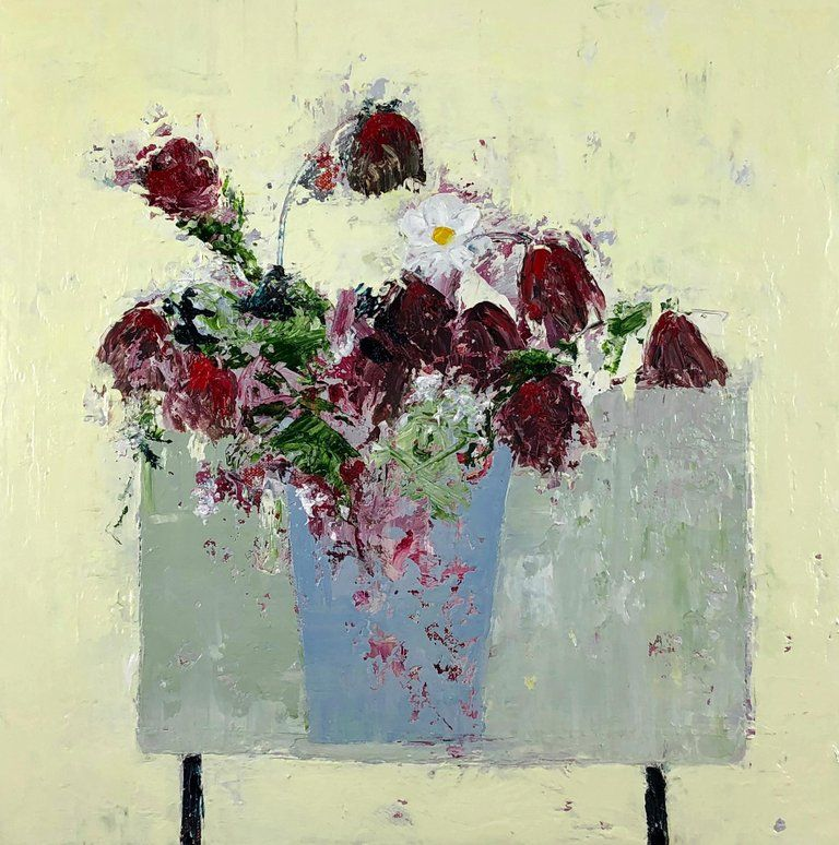 Lorraine Wake Contemporary Still Life Painting Table Top 2018