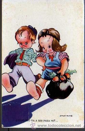 POSTAL DE NIÑOS - INFANTIL 1943 MORENO (Postales - Niños)