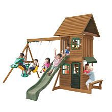 """""""Windale"""" wood gym set, from Toys R Us, $699. She said ..."""
