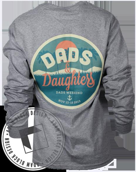 Delta Gamma Dads & Daughters Long Sleeve by Adam Block Design | Custom Greek Apparel & Sorority Clothes | www.adamblockdesign.com