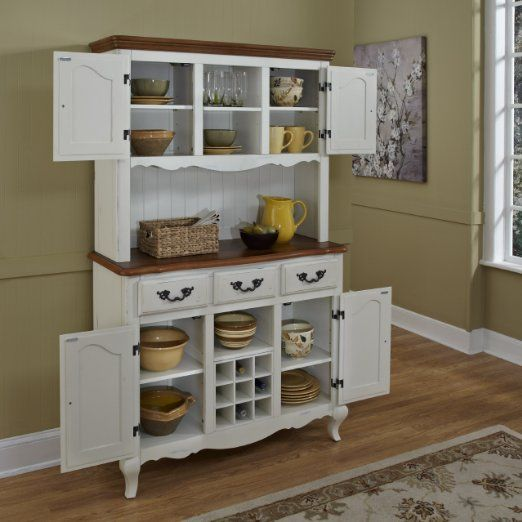 Home Styles - The French Countryside Buffet and Hutch, Oak/Rubbed White - Buffets & Sideboards - https://www.amazon.com/Home-Styles-5518-617-French-Countryside/dp/B00GIZ04AC/ref=as_li_ss_tl?ie=UTF8&qid=1468936364&sr=8-142&keywords=country+furniture&linkCode=ll1&tag=pinrustic17-20&linkId=f760d89c87983f3455367f969afc5267
