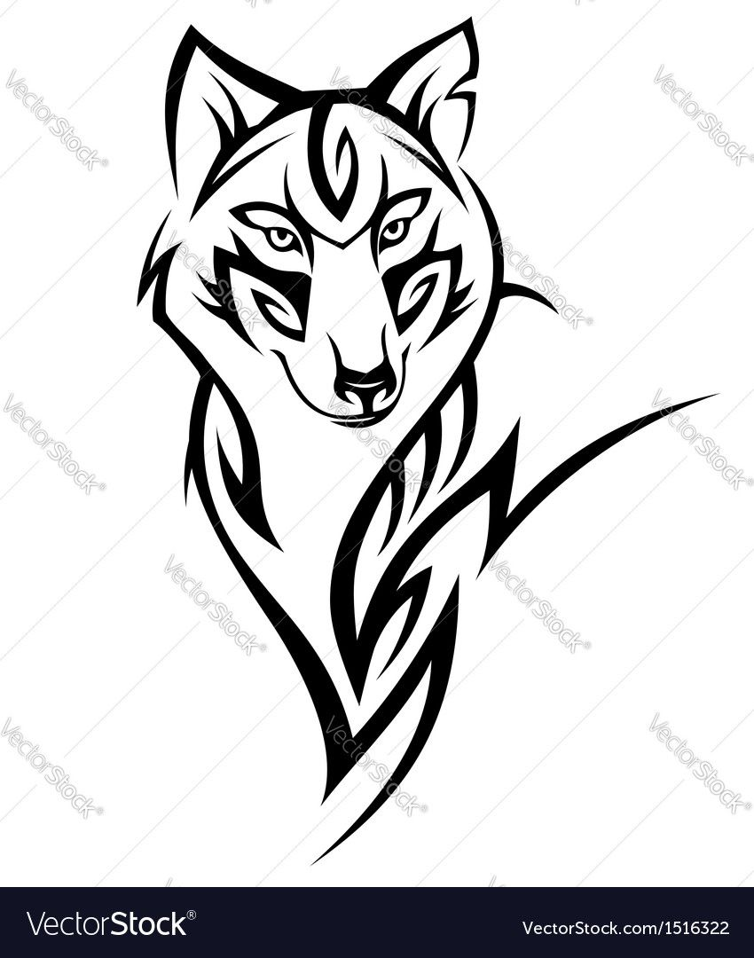 684563ee927c4 Illustration about Tribal wolf tattoo Design illustration. Illustration of  animal, authority, fear - 27886494