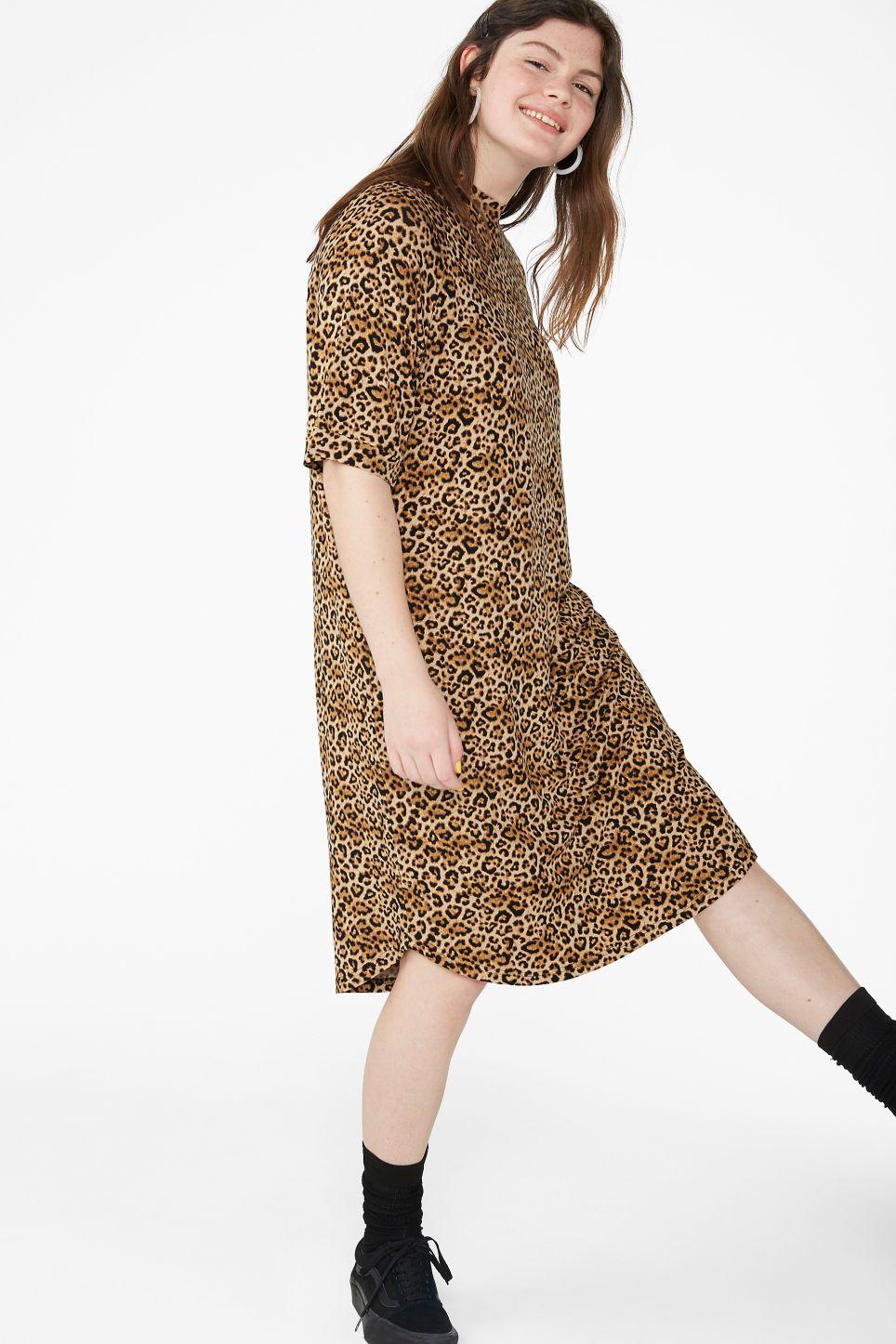 2f2017c95a9d Oversized t-shirt dress - Leopard print - Dresses in 2019 | Style ...