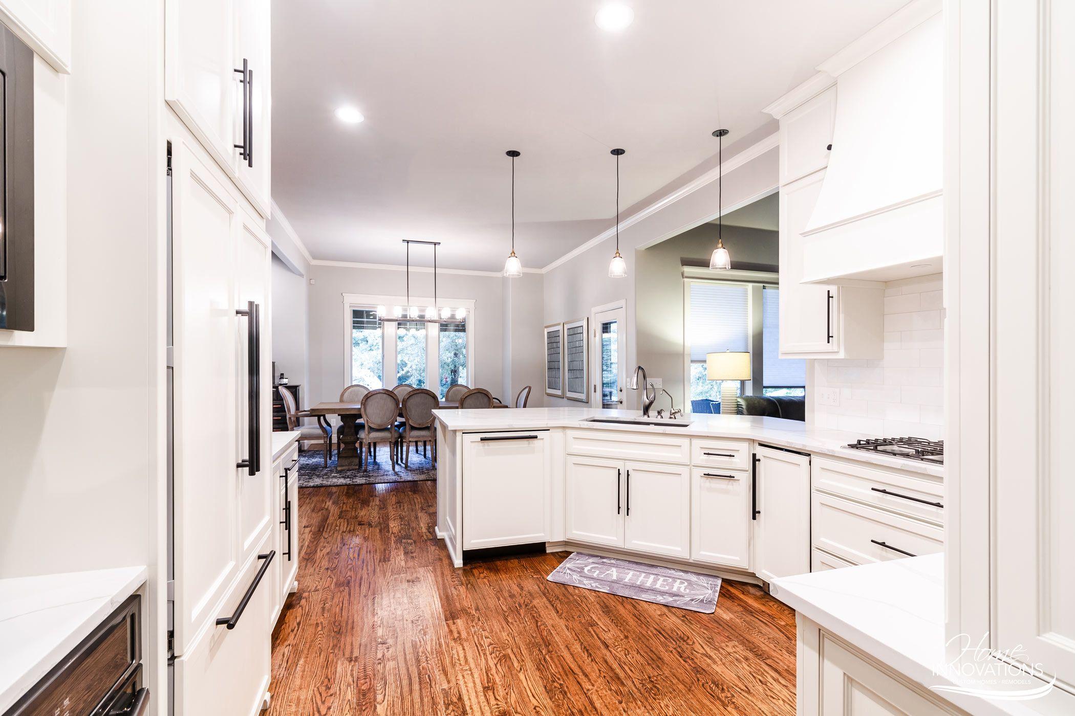 Kitchen Remodel | Tulsa OK - kitchen open to dining, white ...