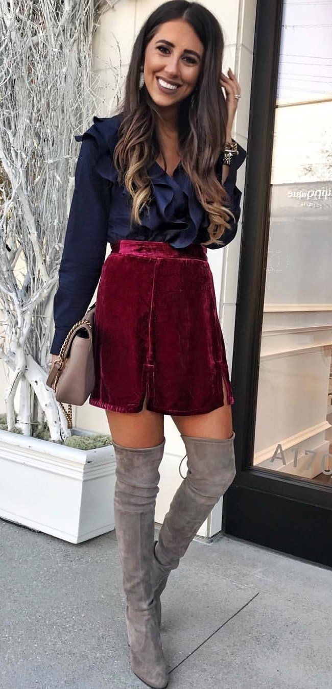 10 Cozy Winter Outfits To Copy Asap Mini Skirts Fall Trends