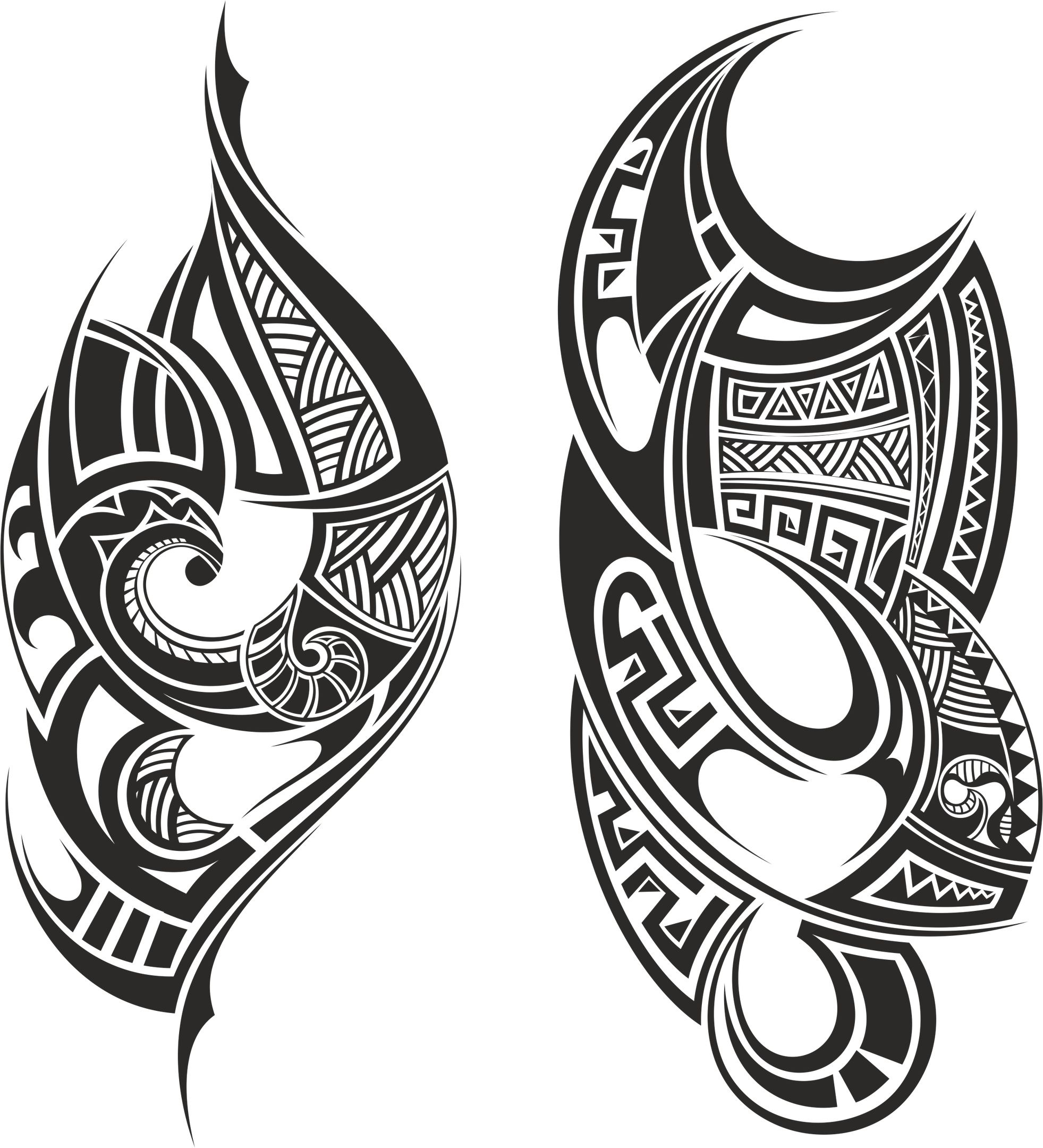 Tribal Tattoo Free Vector Coreldraw File Tribal Tattoos Maori Tattoo Samoan Tattoo