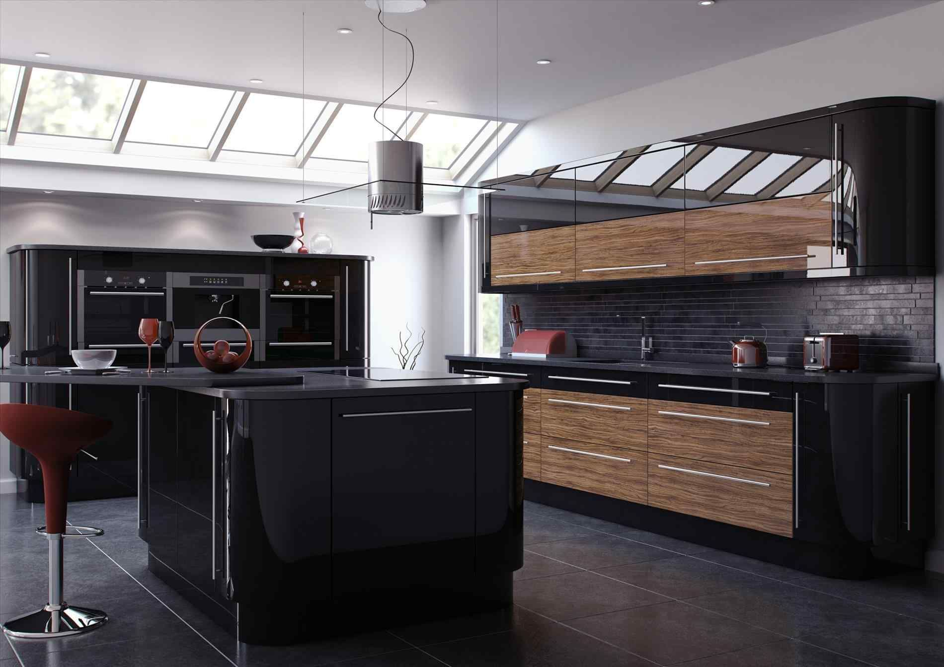 Awesome 13 Black Shiny Kitchen Cabinets Ideas For Stunning Kitchen