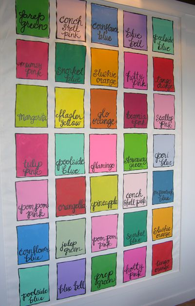 Lilly Pulitzer Color Palette