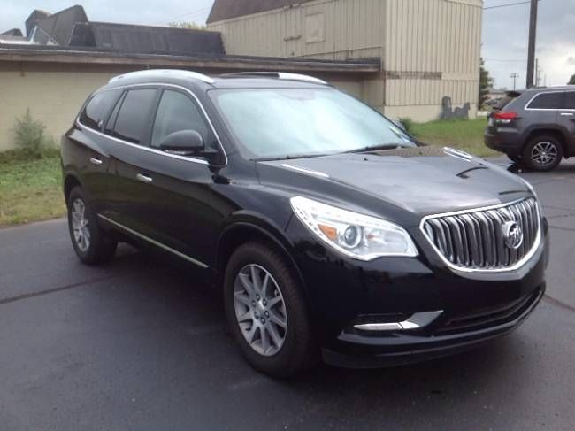Used 2017 Buick Enclave Leather Suv Elkhart 3 6l V 6 Cyl 6 Speed Automatic All Wheel Drive Exterior Color Ebony Twilight Buick Enclave Elkhart Buick