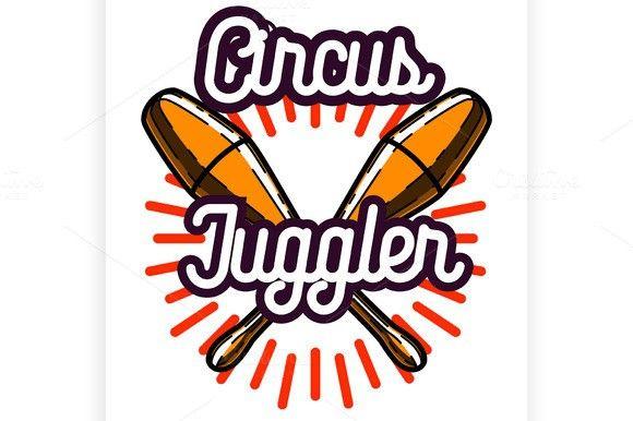 Color vintage circus emblem. Poster Templates. $5.00