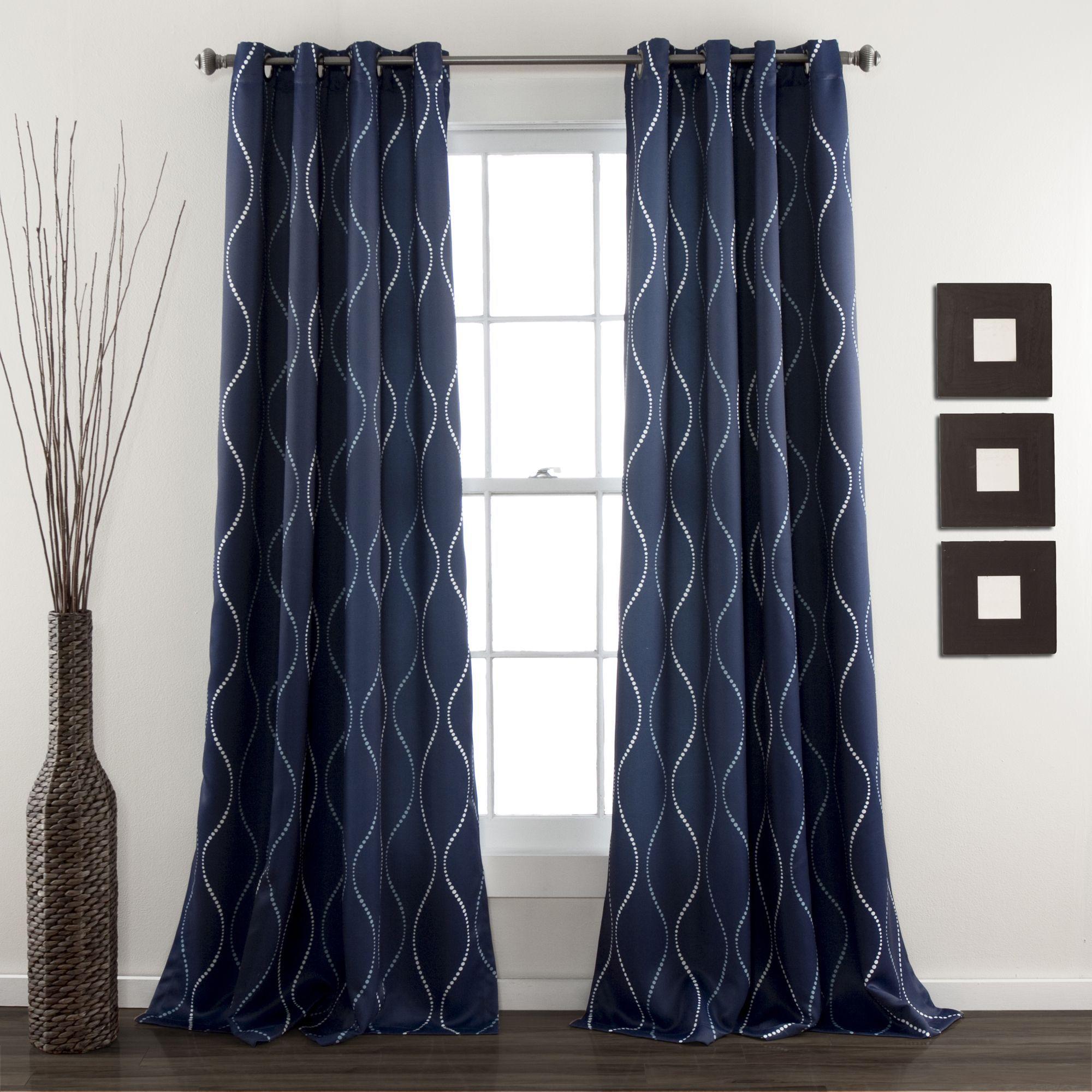Lush Decor Swirl Blackout Curtain Panel Pair Overstock Shopping