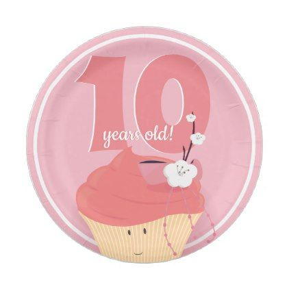 sc 1 st  Pinterest & Pink Cupcake Birthday | Paper Plate