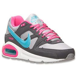 official photos c08a4 0cca9 Girls  Grade School Nike Air Max Command Running Shoes   Finish Line   Wolf  Grey Pink Foil Gamma Blue