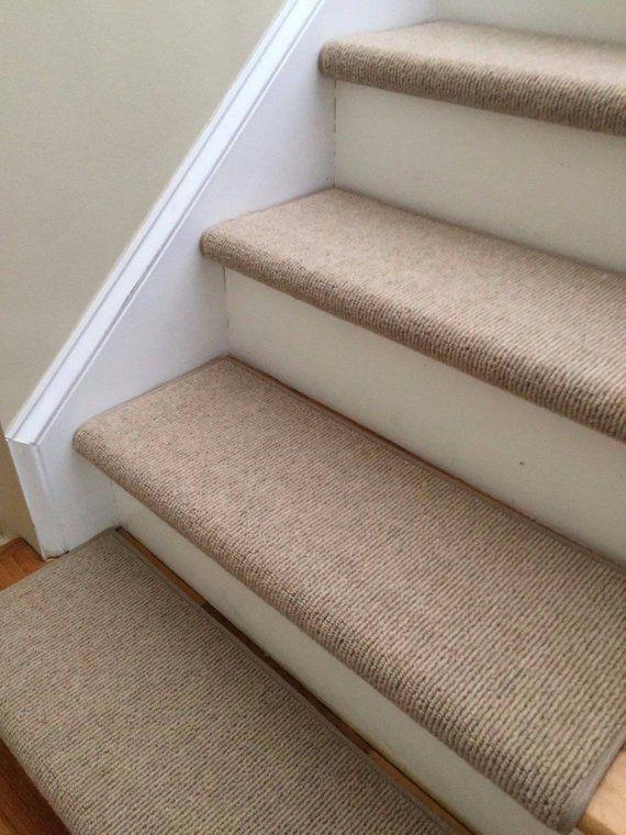 Best Bristol Tan New Zealand Wool True Bullnose™ Padded Carpet Stair Tread Runner Replacement For 400 x 300