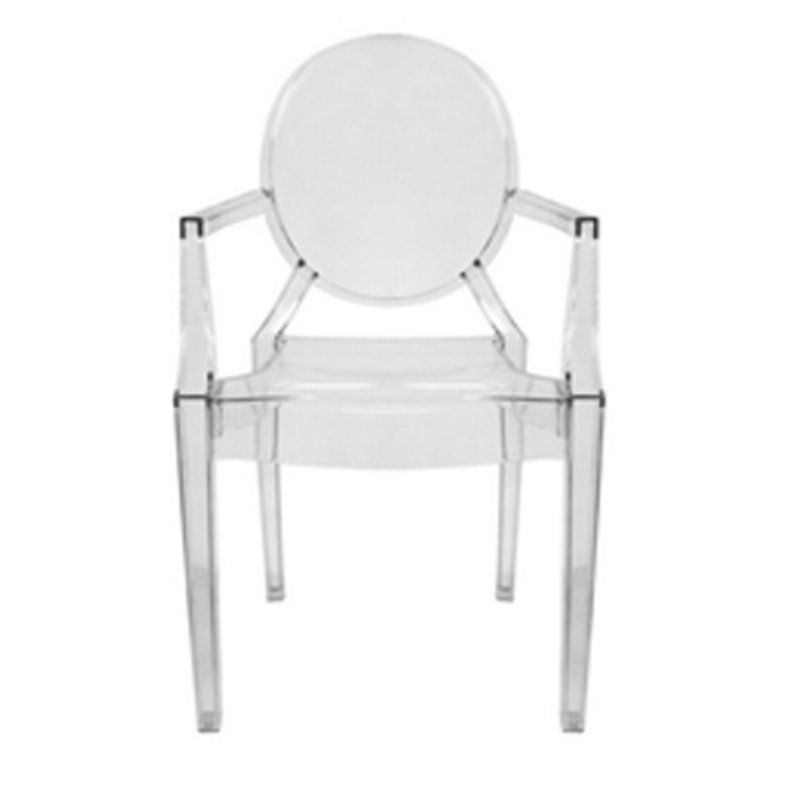 Baxton studio dymas armed ghost dining chair set of 2