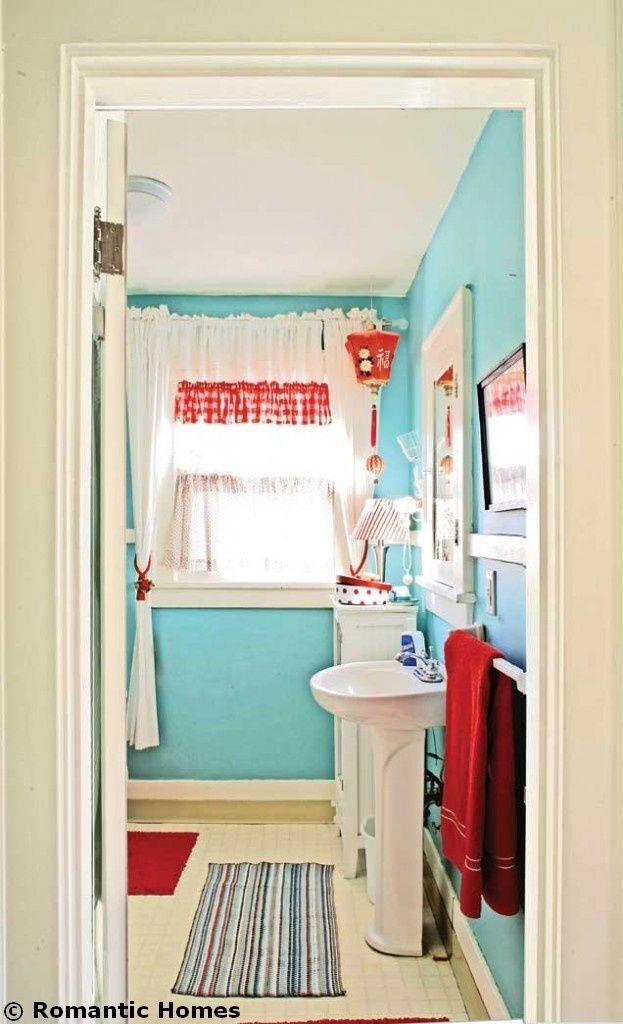 pinalice pedersen on bathroom  bathroom red