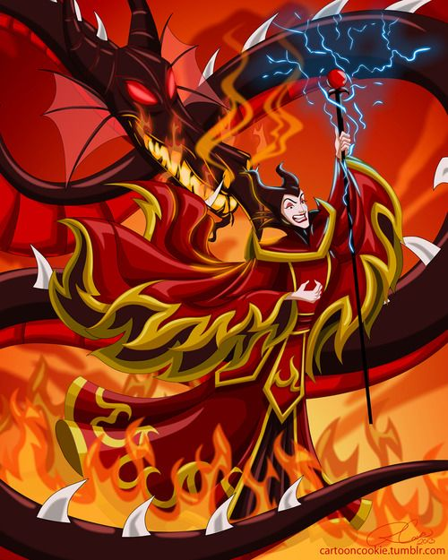 Fire Lord Maleficent  And all the Powers of HELL! She has always