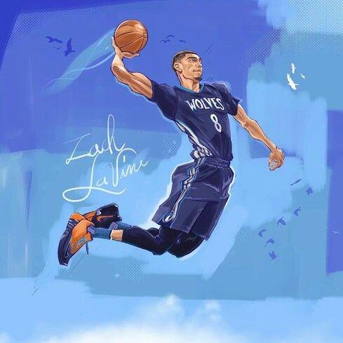 Zach Lavine Slam Dunk Comp Nba Artwork Nba Basketball Art Basketball Art