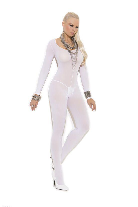 0f3779cb723  11.3 - Opaque Long Sleeve Open Crotch Bodystocking! Plus   Regular Size  Adult Woman  ebay  Fashion