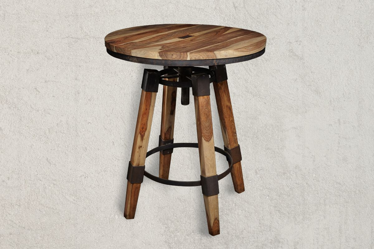 Bar table dimensions - Bar Table Waverly Industrial Sheesham Wood Bar Table Dimensions In Cm H W