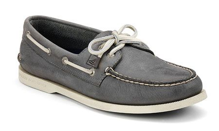 mens gray sperry boat shoes