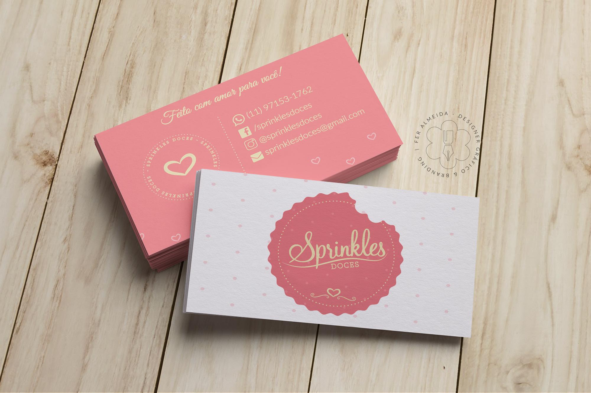 Cartão de Visita Sprinkles Doces