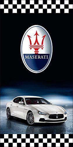 Maserati auto dealer vertical avenue pole banner signs