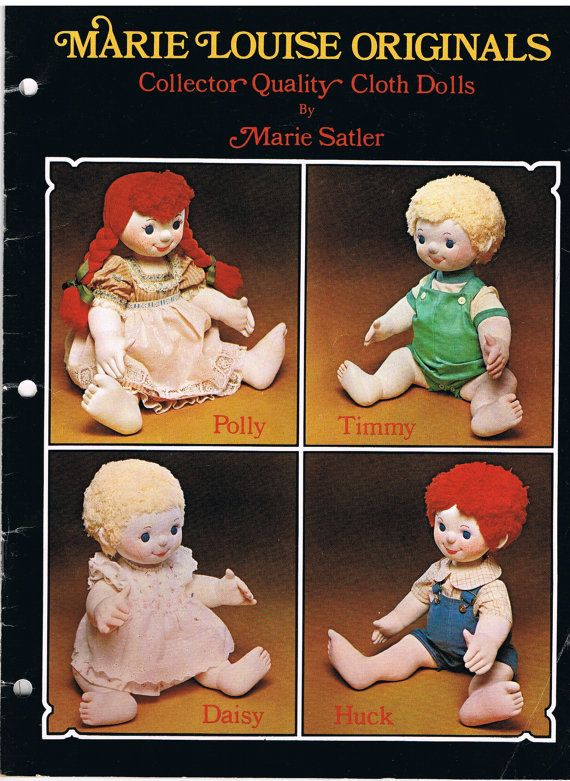 Vintage Mary Louise Originals Doll Book and Body Fabric offered by CraftiqueRedux, $19.00