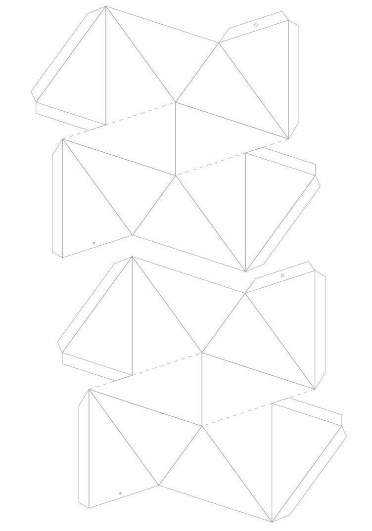 plantilla-estrella-3d.jpg 752 ×1.074 pixels | Jule ting | Pinterest ...