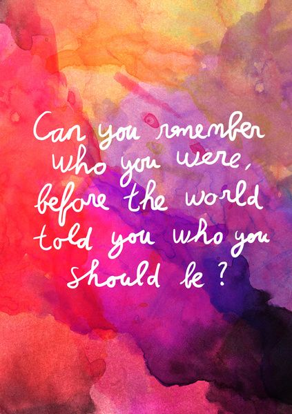 remenber who you are