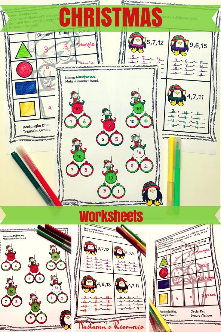 1st Grade Christmas Math Activities Christmas Math Worksheets Christmas Math Activities Christmas Math [ 1102 x 735 Pixel ]