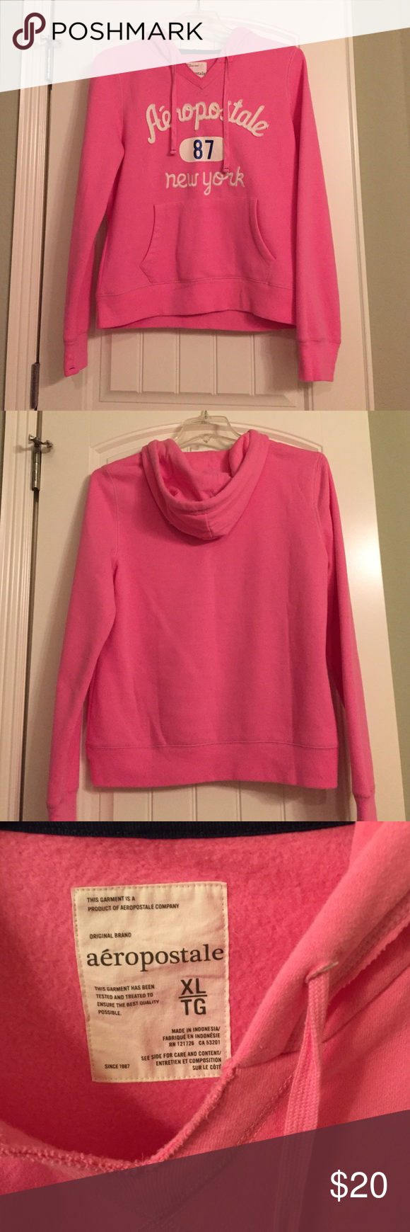 💕pink Aeropostale sweater💕 Warm Aeropostale sweatshirt, perfect for this chilly weather on its away, great for back to school.  Has front pocket.    🚫No trades please  ‼️Willing to negotiate  ‼️No smoking or pet home Aeropostale Sweaters