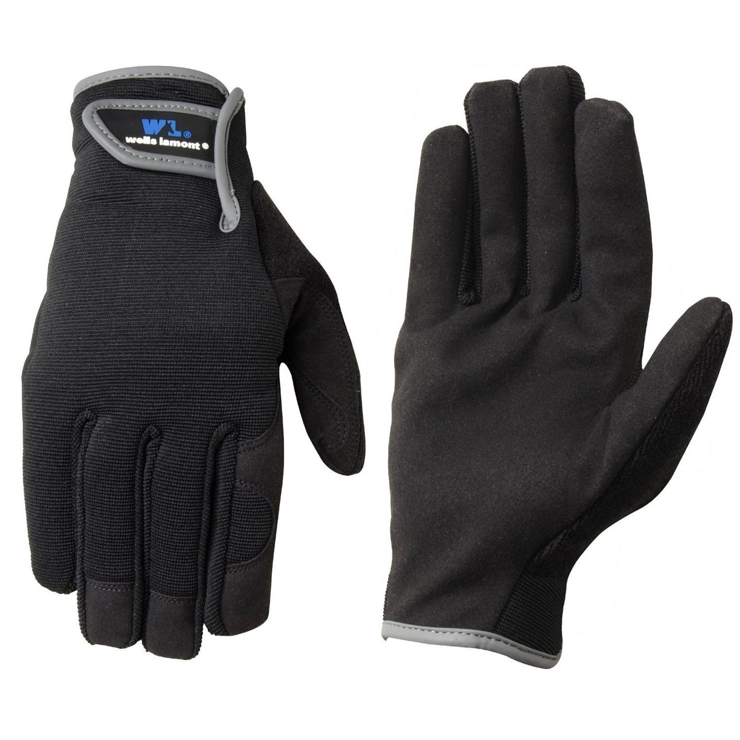 Leather work gloves with thinsulate lining - Wells Lamont Synthetic Leather Work Gloves For Mens