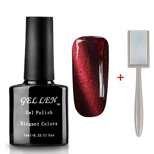 Gellen 3D Cat Eye Series UV Gel Nail Polish 10ml  Free Magnet Stick Color 64 *** See this great product.Note:It is affiliate link to Amazon.