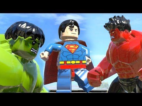 Lego The Incredible Hulk Transformation vs Red Hulk vs SuperMan LEGO ...
