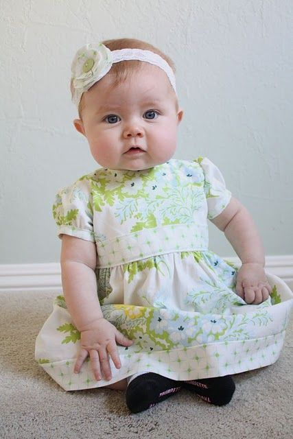 very cute dress and a little lesson on making a pattern