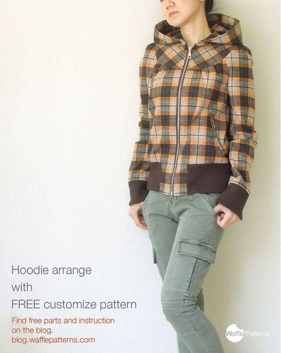 PDF sewing pattern. Women Zipper Blouson -Cookie- (size 34-48 ...
