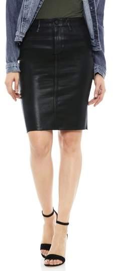 2d912e72a Sam Edelman Riley Coated Denim Skirt Denim Coat