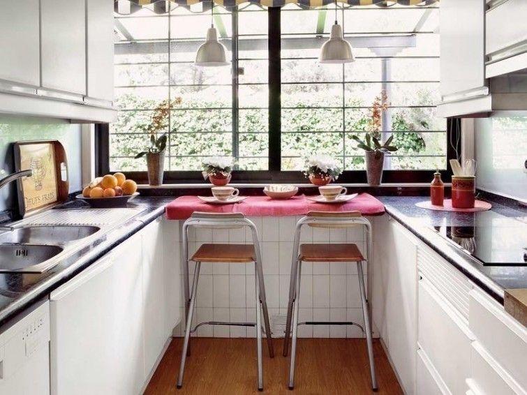 12 ideas para armar una práctica barra en la cocina   Cocina pequeña ...
