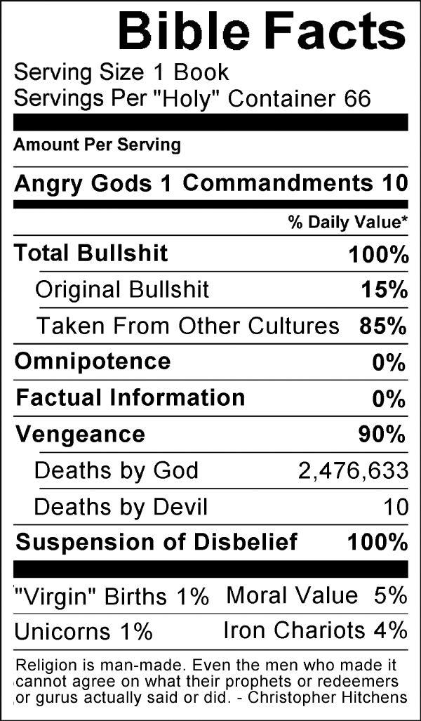 atheisten sprüche Bible Serving sizes | religion vs. spirituality / coEXist  atheisten sprüche