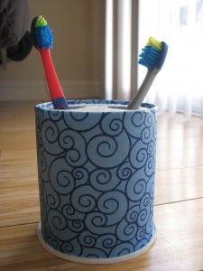 Diy Toothbrush Holder One Day Of Peace Diy Toothbrush Holder Diy Recycle Decor